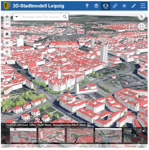3D Stadtmodell-Leipzig