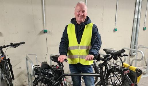 Mit dem Fahrrad ins Büro