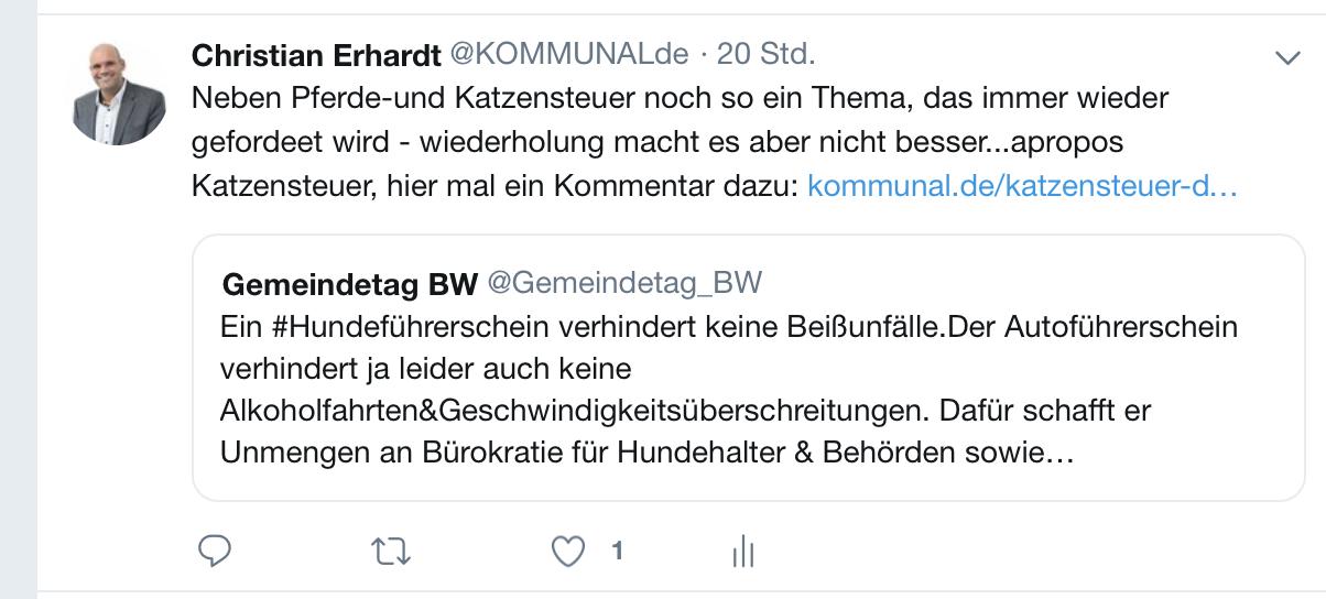KOMMUNAL Chefredakteur Christian Erhardt kommentiert tagesaktuelle Ereignisse auf unserem Twitter-Kanal unter www.twitter.com/kommunalde