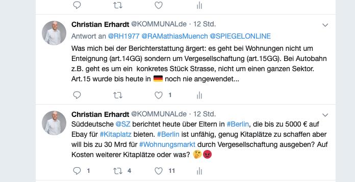 Diskutieren Sie mit - immer aktuell, immer schnell - Christian Erhardt mit Kommentaren und Hintergründen auf twitter! Jetzt verbinden!
