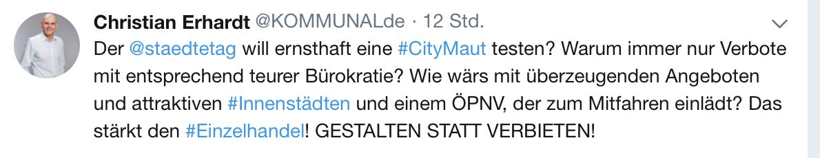 Meinungsstark, frech, auf den Punkt - Christian Erhardt auf Twitter