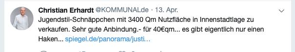 Bei Twitter hat Christian Erhardt über den Verkauf berichtet - JETZT FOLGEN HIER KLICKEN!