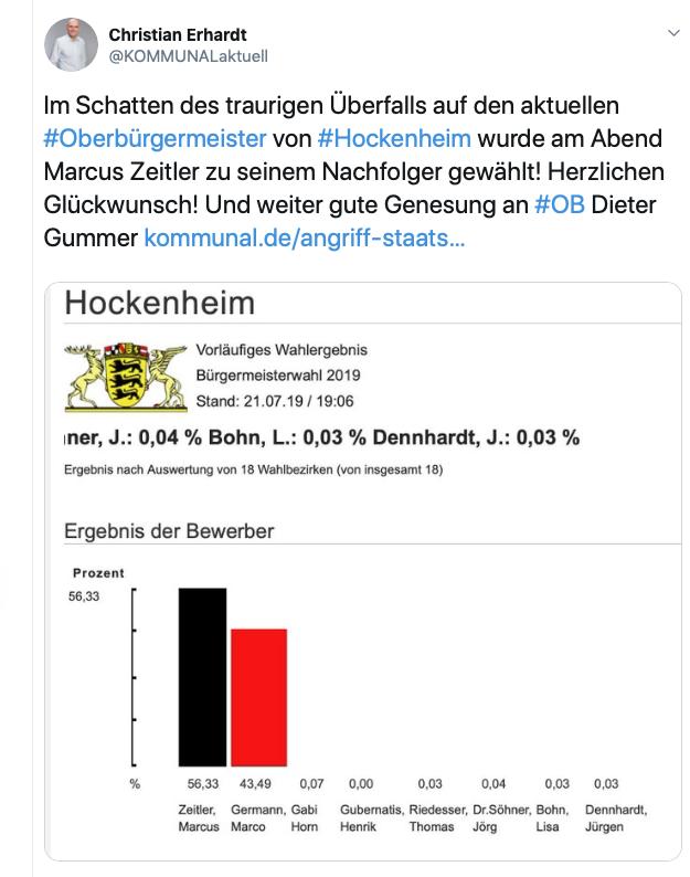 Auf seinem Twitter-Kanal hält Sie Christian Erhardt täglich über alles aus der Kommunalpolitik auf dem Laufenden - kritisch, frech und sehr persönlich! @KOMMUNALaktuell