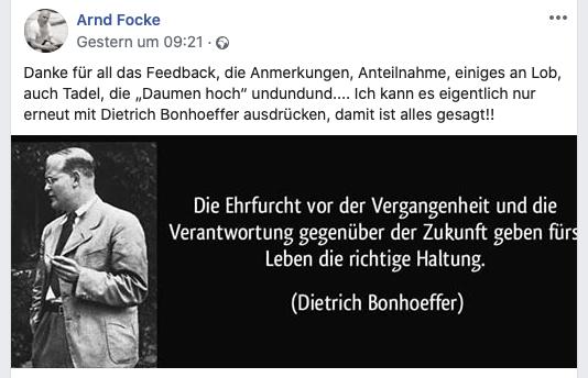 privater Facebook-Kanal von Arnd Focke