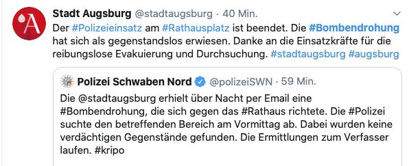 Twitter-Meldungen aus Augsburg