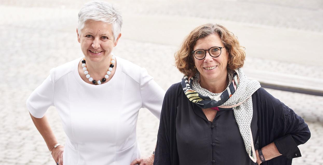 Susanne Kutz leitet de Bereich Alter und Demografie der Körber-Stiftung, Karin Hast die Projekte Demographische Zukunftschancen