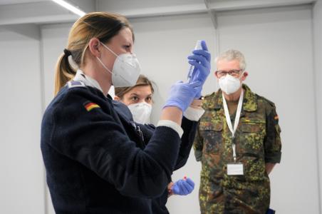 Impfzentrum Lebach Saarland Bundeswehr