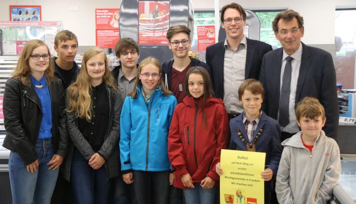 Kinder Roßtal Plastikfreie Gemeinde Aktion