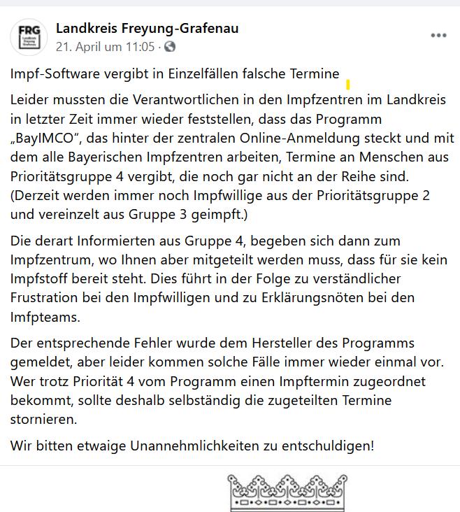 Panne Impfen Bayern