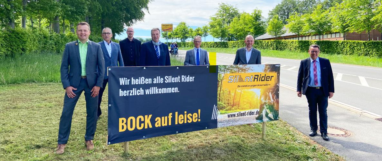 Bürgermeister beim Kampagnenstart von Silent Rider