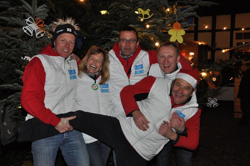 Das Organisationsteam für den Bündener Weihnachtsmarkt