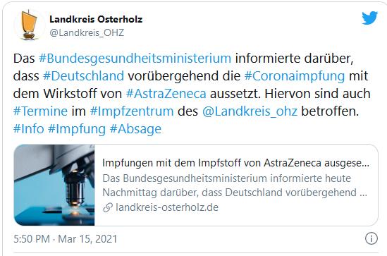 Twitter Link Impfen AstraZeneca