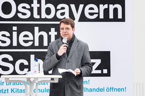 Bürgermeister Heinz Pollak Waldkirchen Ostbayern sieht schwarz