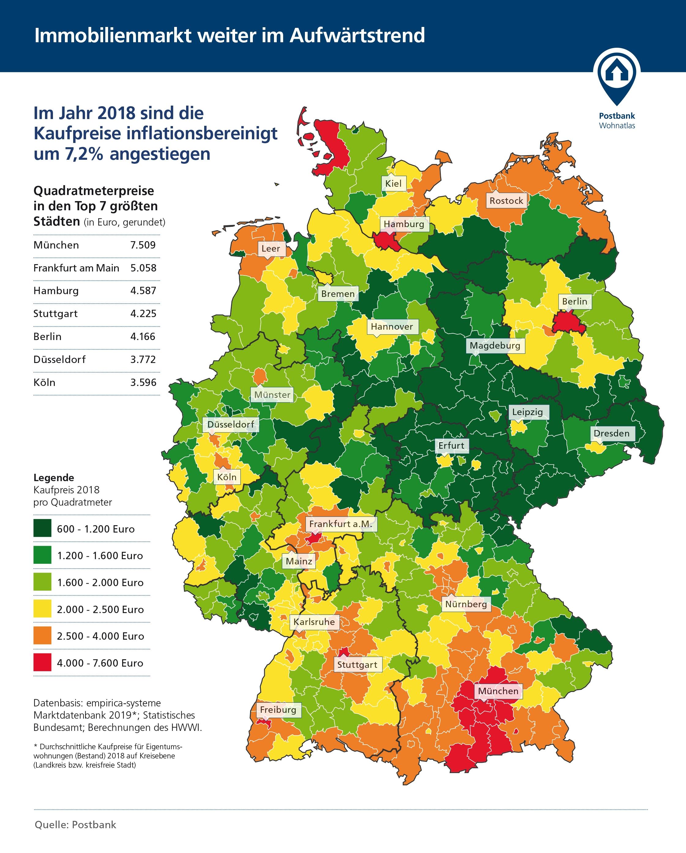 grundstückspreise deutschland karte Wohnatlas: Ländlicher Raum profitiert von Preisexplosion | KOMMUNAL