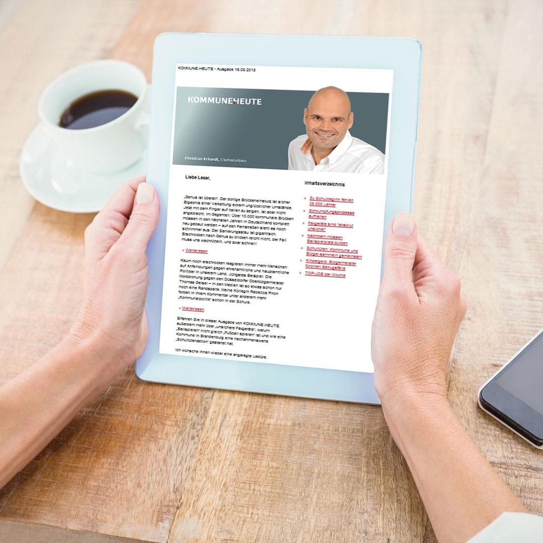 Exklusive Studien und Zahlen unseres Partners Forsa - eines der vielen Highlights in unserem wöchentlichen Newsletter - für Sie kostenlos, weil unbezahlbar!