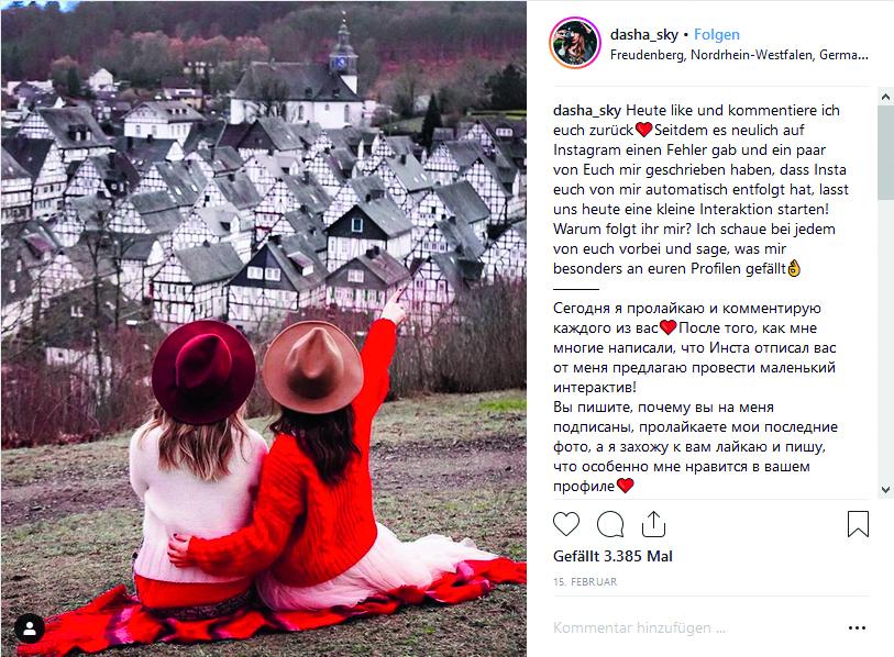 Tourismus Instagram