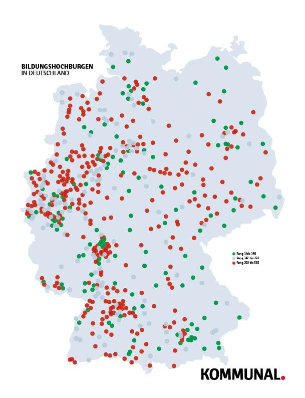 Karte Bildungshochburgen