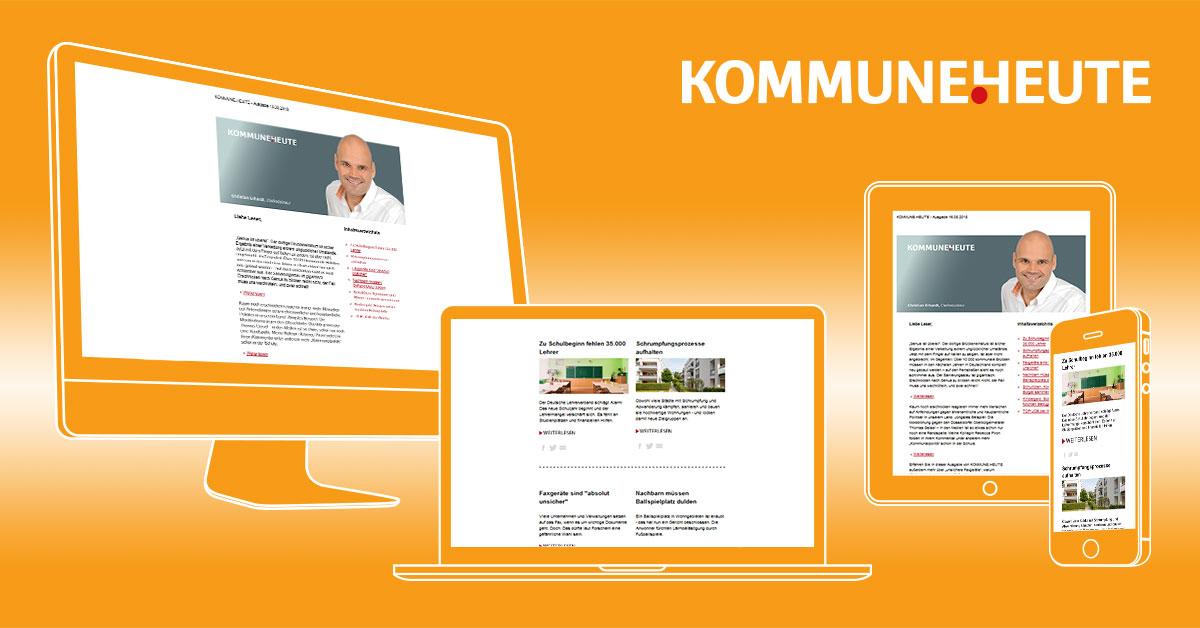 KOMMUNE.HEUTE - unser Newsletter hält Sie jederzeit mit den Neuesten Informationen auf dem Laufenden - KOSTENFREI - JETZT ANMELDEN