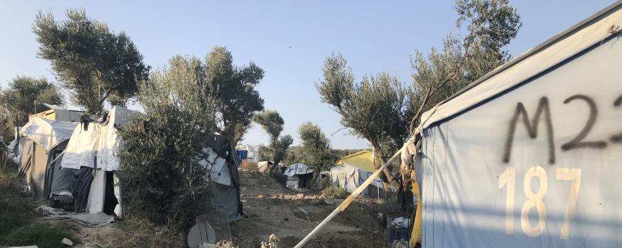 Innenansicht Flüchtlingscamp Moria