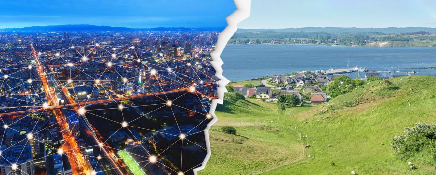 Digitalisierung im ländlichen Raum und in der Stadt