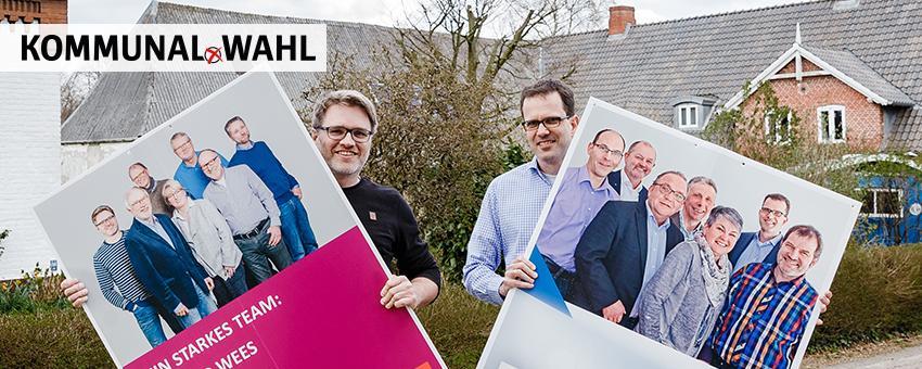 Wahlkampf für die Kommunalwahlen