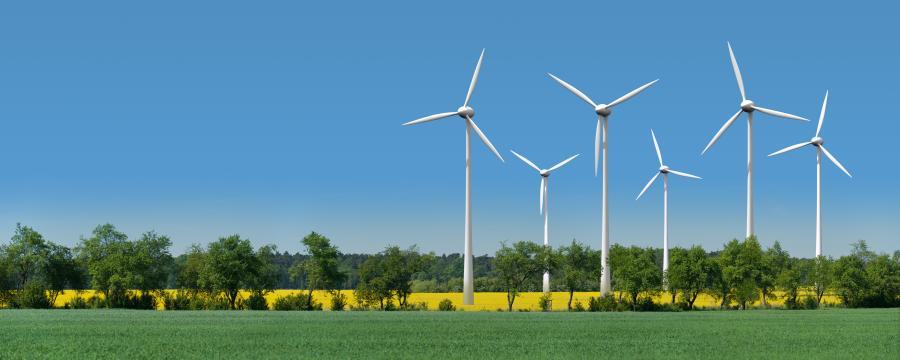 Rückgang der Windenergie