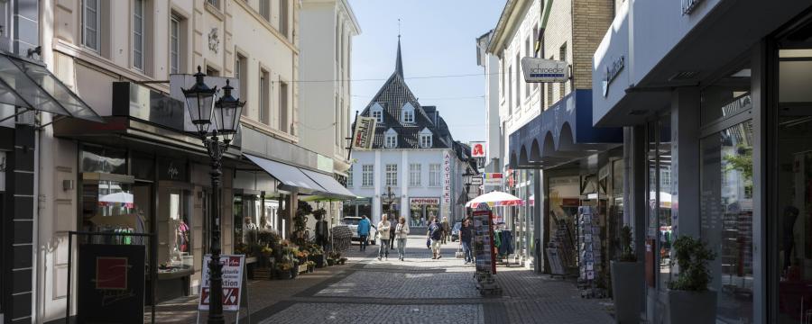 Deutschlands Innenstädte brauchen neue Konzepte - hier zu sehen: Die Altstadt von Moers