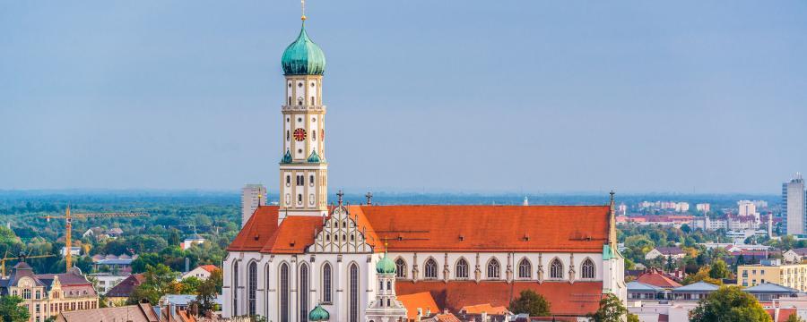 Blick auf die Stadt Augsburg