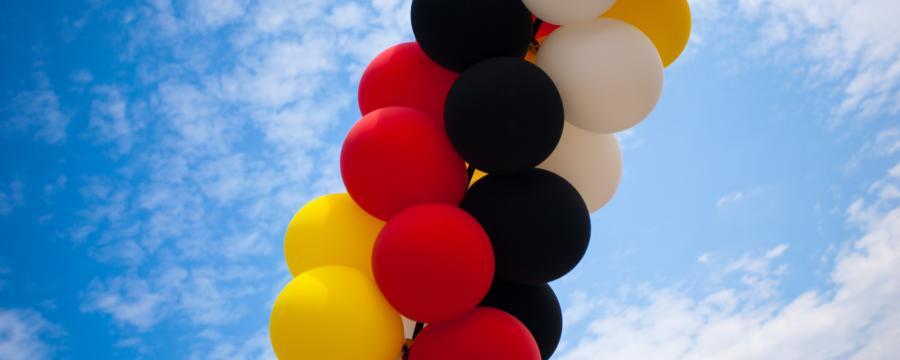 Luftballons zum Tag der Deutschen Einheit