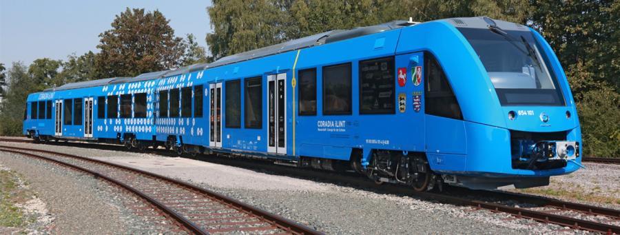 Ein Zug der nur mit Wasserstoff fährt