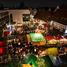 Der Weihnachtsmarkt von Bünde konnte durch viel ehrenamtliches Engagement gerettet werden.