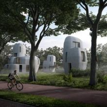 So soll die erste Wohnsiedlung aus dem 3D-Drucker aussehen.