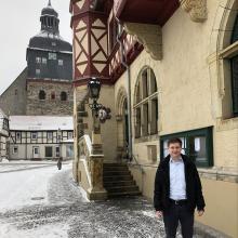 Marcus Weise ist seit zwei Jahren Bürgermeister von Harzgerode.
