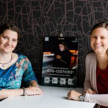 Die Gründerinnen des Heimwegtelefons Frances Berger und Anabell Schuchhardt.