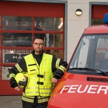 Sebastian Hentschel ist Wehrführer der Freiwilligen Feuerwehr Leegebruch und hat uns bei unserem Praktikumstag zur Seite gestanden.
