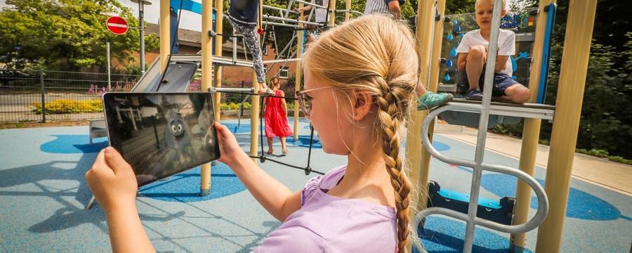 Erweiterte Realität AR-Spielplatz