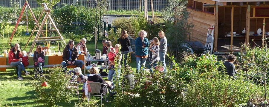 Gartenparty vor Corona
