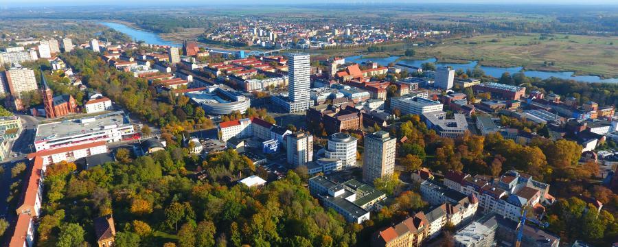 Frankfurt an der Oder von oben