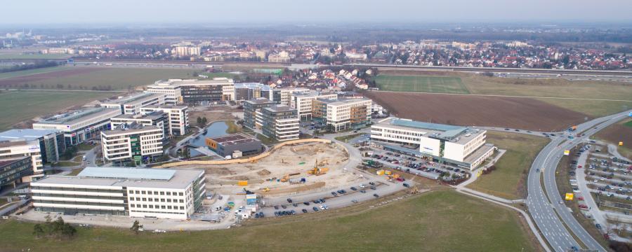 Garching Landkreis München aus der Luft