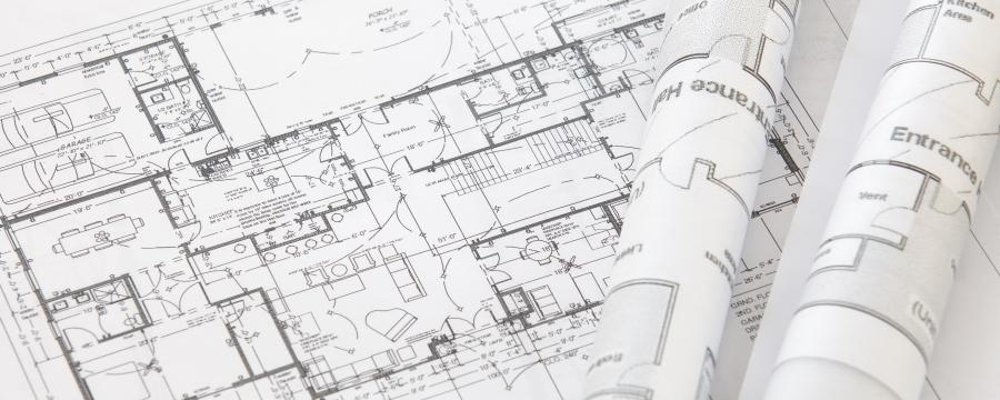 Planungszeichnung eines Architekten