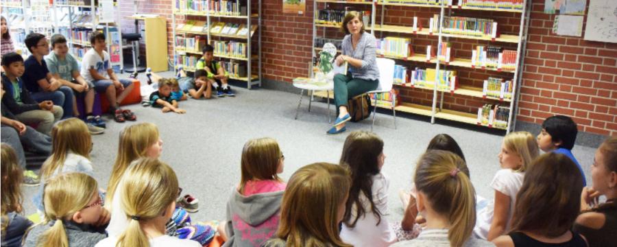Autorenlesung für junge Leser in der Bücherei Eching