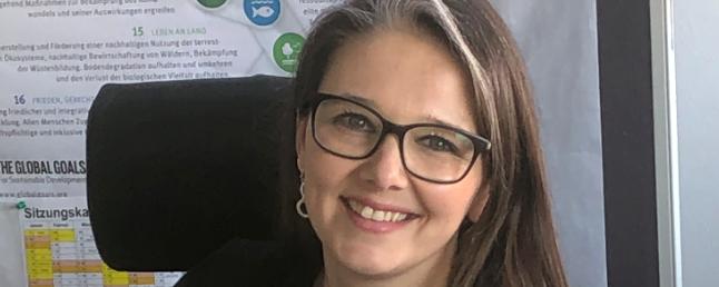Bürgermeisterin von Pattensen, Ramona Schumann in ihrem Amszimmer.