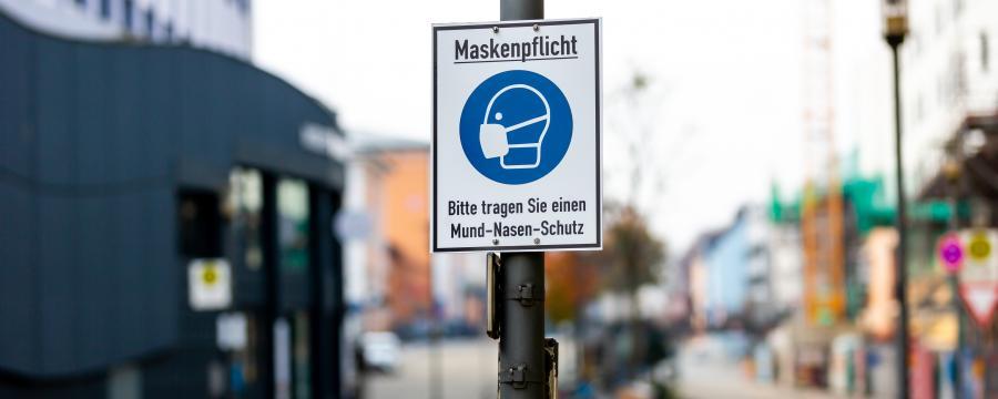 Maskenpflicht in der Innenstadt