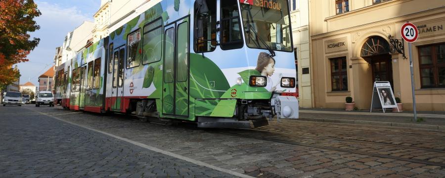 Fahrverbot in Cottbus aber die Straßenbahn darf weiter fahren