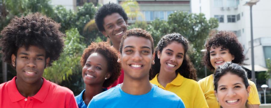 Studenten aus mehreren Nationen