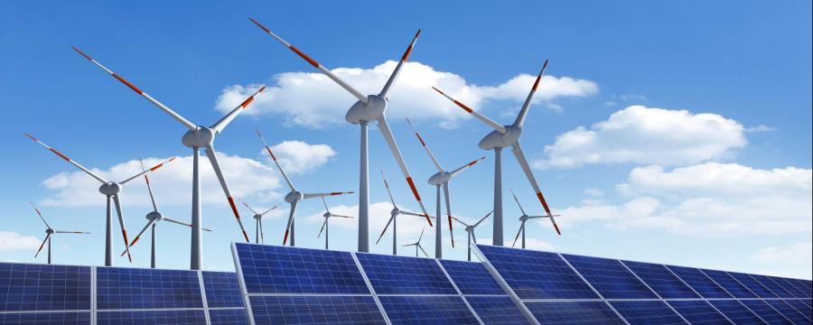 Windpark und Solarpark