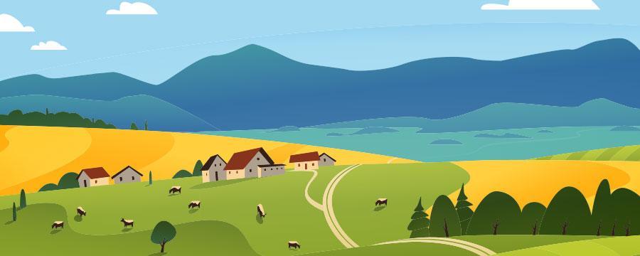 Dorfidylle- Dorf  neues Leben einhauchen