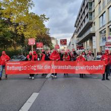 In Berlin demonstrierte die Veranstaltungsbranche