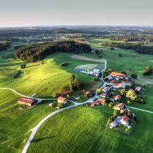 Schöne Landschaft: Viele träumen vom Landleben.