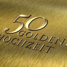 Schrift: 50 Goldene Hochzeit
